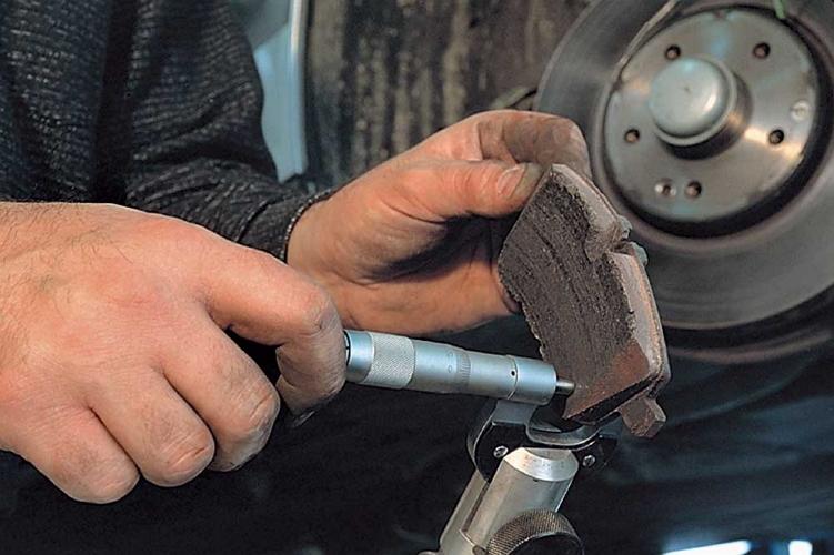 Определение износа тормозных колодок автомобиля